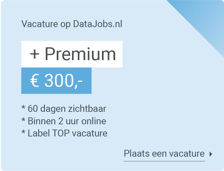 premium vacature datajobs
