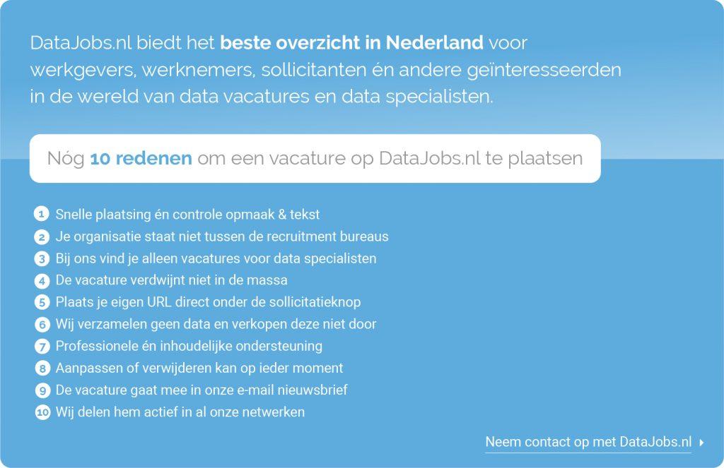 10 redenen om een vacature op DataJobs.nl te plaatsen